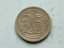 1933 - 25 HALERU / KM 16 ( Uncleaned - For Grade, Please See Photo ) ! - Czechoslovakia