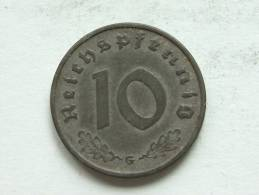 1941 G - 10 Reichspfennig / KM 101 ( Uncleaned - For Grade, Please See Photo ) ! - 10 Reichspfennig