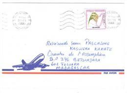 VEND TIMBRE DE MADAGASCAR N° 2583 SUR LETTRE , COTE : ? , !!!! (j) - Madagascar (1960-...)
