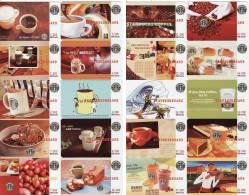200 Different Starbucks Coffee Commemorative Cards - Non Classificati