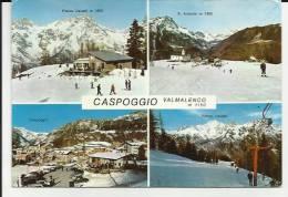 CARTOLINA DI CASPOGGIO VALMALENCO PROVINCIA DI SONDRIO TIMBRO KENNEDY HOTEL CASPOGGIO - Sondrio
