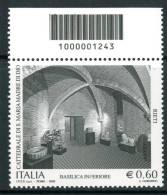 """ITALIA / ITALY 2009 - Cattedrale Di S.Maria Di Dio """"Rieti""""- Singolo Con Codice A Barre Come Da Scansione - 6. 1946-.. Repubblica"""