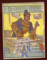 Rare Grande Chromo Originale Bi Borax Oriental Par Marcel Clement   Circa 1900   Lot No 2 - Autres