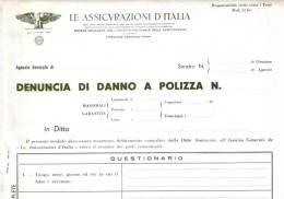 LE ASSICURAZIONI DìITALIA - Anni '60 - Banque & Assurance