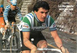 Bernard VALLET , Autographe Manuscrit, Dédicace. 2 Scans. La Redoute Motobecane - Cyclisme