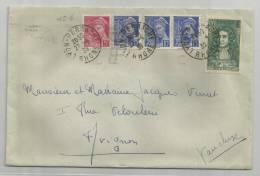 1939 - ENVELOPPE DE LYON PERRACHE - MERCURE - France