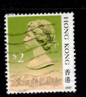 Hong Kong 1990 $2  Queen Elizabeth II Issue  #500a - Used Stamps