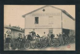 VILLE SUR TOURBE - Machines Agricoles A. CHARBONNIER (très Belle Carte Animée) - Ville-sur-Tourbe