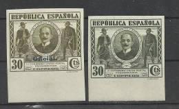 II REPUBLICA CONGRESO UNION POSTAL GAUCHOS UNION PANAMERICANA SELLOS SIN DENTAR ORDINARIO Y OFICIAL - 1931-50 Nuevos & Fijasellos