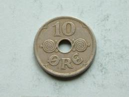 1934 - 10 ORE / KM 822.2 ( Uncleaned Coin - For Grade, Please See Photo ) !! - Danemark