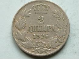 1925 - 2 DINARA / KM 6 ( Uncleaned Coin - For Grade, Please See Photo ) !! - Jugoslavia