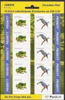 2008  Austria    Mi. 2716-7 **MNH  Folienblatt  Frosch Und Eisvogel - Blocks & Sheetlets & Panes