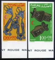 MAROC ** NON DENTELE  CROISSANT ROUGE  BIJOUX - Morocco (1956-...)