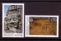 1993-UNESCO-N°110/111** CAMBODGE-ALGERIE - Servicio