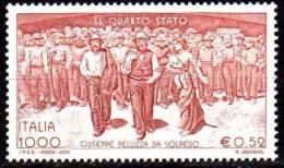 """PIA - ITALIA - 2001 : """"Il Quarto Stato"""" - Dipinto Di Giuseppe Pellizza Da Volpedo    - (SAS  2563) - 1946-.. Republiek"""
