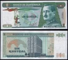 Guatemala P 66 - 1 Quetzal 4.1.1989 - UNC - Guatemala