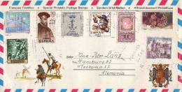 ESPAGNE :Lettre Pour L´Allemagne - Don Quichotte - 1931-Aujourd'hui: II. République - ....Juan Carlos I