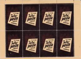 BLOC DE 8 VIGNETTES EXPOSITION INTER POSTA 1959- HAMBOURG - - Commemorative Labels