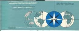 VARIG BRAZILIAN  AIRLINES, BIGLIETTO  AEREO  1983, VIAGGIO MILANO-RIO DE JANEIRO,