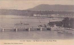 Geneve, La Rade Et La Quai Des Eaux Vives, Switzerland, PU-1908 - GE Ginevra