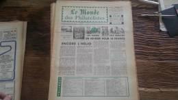 LOT 220 JOURNAL LE MONDE DES PHILATELISTES EDITION N�251