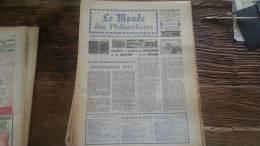 LOT 222 JOURNAL LE MONDE DES PHILATELISTES EDITION N�249