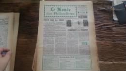 LOT 223 JOURNAL LE MONDE DES PHILATELISTES EDITION N�248