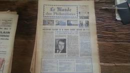 LOT 225 JOURNAL LE MONDE DES PHILATELISTES EDITION N�246