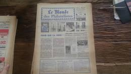 LOT 228 JOURNAL LE MONDE DES PHILATELISTES EDITION N�243