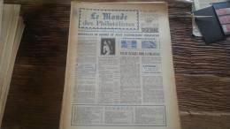 LOT 246 JOURNAL LE MONDE DES PHILATELISTES EDITION N�190