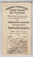 Edition Jubilaire - Carte Suisse Du Tourisme / Jubiläums-Ausgabe - Schweizerische Verkehrskarte - Cartes Géographiques