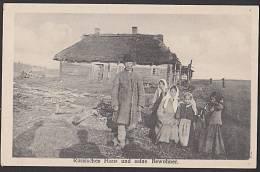 Lettland Russisches Haus Und Seine Bewohner Ca. 1915 - Lettonie