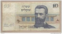 Israele - Banconota Circolata Da 10 Sicli - Israele