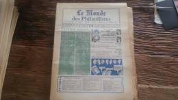 LOT 264 JOURNAL LE MONDE DES PHILATELISTES EDITION N�303