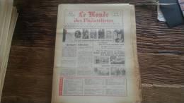 LOT 266 JOURNAL LE MONDE DES PHILATELISTES EDITION N�301