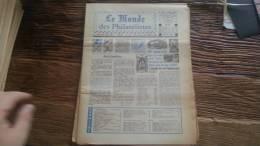 LOT 270 JOURNAL LE MONDE DES PHILATELISTES EDITION N°297 - Specialized Literature