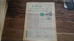 LOT 271 JOURNAL LE MONDE DES PHILATELISTES EDITION N°296 - Specialized Literature