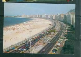 Cpsm Gf -   Rio De Janeiro - Vista Panromica Do Calçadâo E Praia De Copacabana   -  Lwb58 - Copacabana