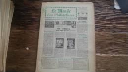 LOT 288 JOURNAL LE MONDE DES PHILATELISTES EDITION N�191