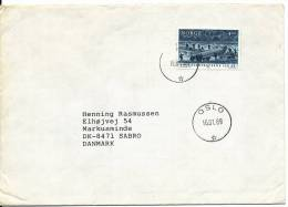 Norway Cover Sent To Denmark Oslo 16-1-1989 Single Stamped - Norvège