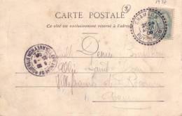 PUY DE DOME-CHAMBON T84 DU 24-9-1906 SUR 5c TYPE BLANC. - Postmark Collection (Covers)