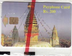 NEPAL - Temple, Nepal Telecom Telecard RS 200, 12/04, Mint - Nepal
