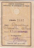LIBRETTO-SCONTRINO Per Il 1934 /  3 Biglietti U.N.U.C.I. - Europa