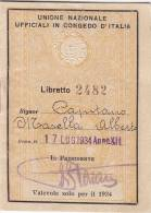 LIBRETTO-SCONTRINO Per Il 1953 /  6 Biglietti U.N.U.C.I. - Treni