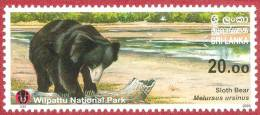 Sri Lanka Stamps 2006, Sloth Bear, Wilpattu National Park, MNH - Sri Lanka (Ceylon) (1948-...)