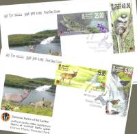 Sri Lanka Stamps 2010, Horton Plains National Park, Bird, Deer, Monkey, Lizard, FDCs - Sri Lanka (Ceylon) (1948-...)