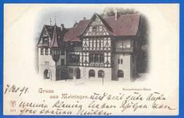 Deutschland; Meiningen; Henneberger-Haus; Gruss Aus AK; 1899 - Meiningen
