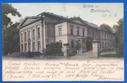 Deutschland; Meiningen; Theater; Gruss Aus AK; 1903 - Meiningen