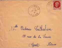 LOIRE-L'ARSENAL DU 17-9-1942 SUR 1F50 PETAIN. - Postmark Collection (Covers)