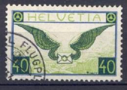 Svizzera 1929 40c. Carta Goffrata Unif. A14 Usato/Used VF - Oblitérés